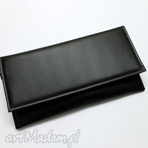 Kopertówka - czarna torebki niezwykle kopertówka, wizytowa