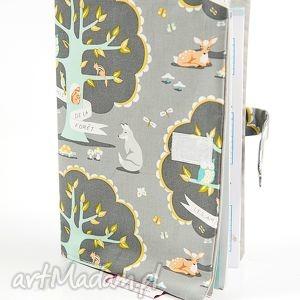 Okładka na książeczkę zdrowia - tajemniczy las, etui, okładka, książeczka,