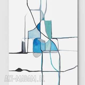 Świata widzenie nr 28 - dom, sztuka, obraz, malarstwo, niebieski, minimalizm