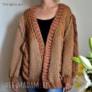 big sweter, ponczo, kardigan, na drutach, wełniany