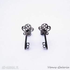 małe kluczki - kolczyki srebrne, srebro, kolczyki, klucze, venus, biżuteria