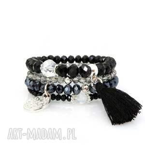 Zestaw Bransoletek - Elegance Black Set, zestaw, bransoletek, bransoletki, set