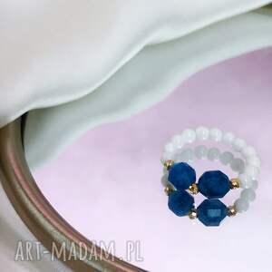 pierścionek - kianit, koral, pierścionek, kamienie, kamienie