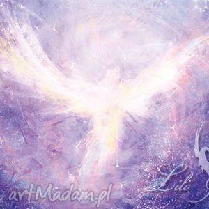 obraz energetyczny - anielski kontakt płótno, ezoteryczny, obraz, anioł, płótno