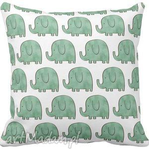 handmade dla dziecka poszewka na poduszkę dziecięca słoniki 3064