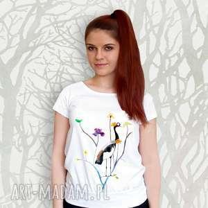 oryginalna bluzka na prezent, ręcznie malowana bawełna, bluzka, koszulka