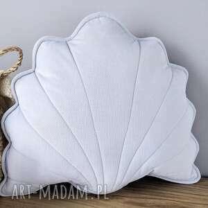 kuferek-malucha poduszka dekoracyjna muszla szara - zając, prezent