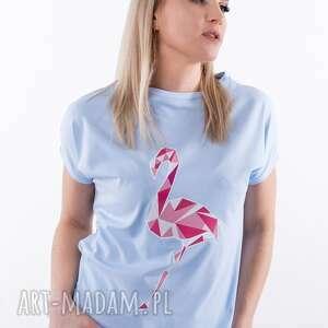 T-shirt niebieski z autorskim nadrukiem koszulki trzyforu