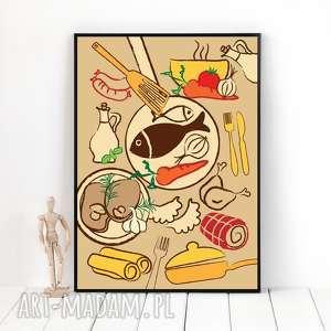 autorska grafika potrawy, format a3, plakat, grafika, ilustracja, kuchnia, dekoracja