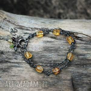 oryginalny prezent, magdalena markowicz cytryn w oksydzie, bransoletka