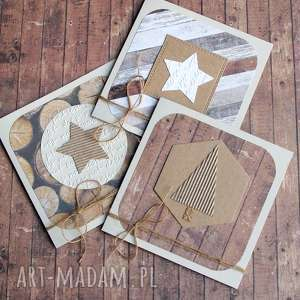 kartki 3 świąteczne drewno, święta, świąteczne