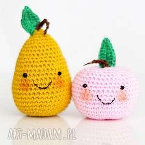 Owoce, szydełko, maskotka, zabawka, igły, poduszeczka