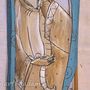 Deska ręcznie malowana (7), marinaczajkowska, 4mara, sztuka, ręcznie, akryl, dom