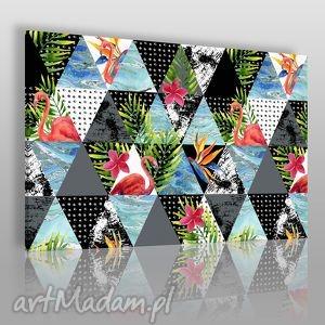 vaku dsgn obraz na płótnie - trójkąty tropikalny 120x80 cm 39001 ,
