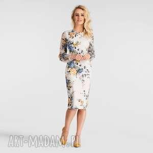 sukienka lidia midi gardenia, sukienka, midi, dopasowana
