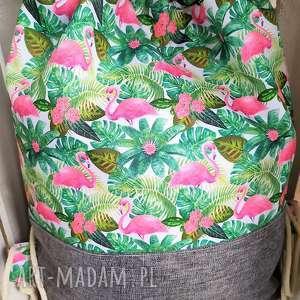 worek plecak flamingi, worek, plecak, spacery, wycieczki, zakupy