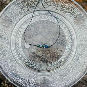 Bransoletka turkusy lapisy lazuli na sznurku w hand works
