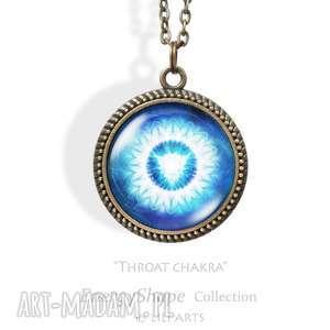 medalion, talizman - czakra gardła - throat chakra - antyczny brąz - naszyjnik