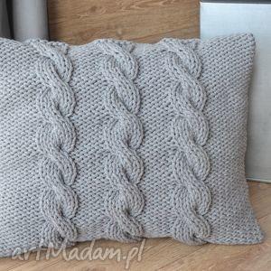 poduszki poduszka warkoczowe trio, poduszka, warkocze, bawełniana, salon, sypialnia