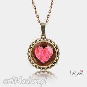 medalion okrągły mały serce, miłość, uczucia, kocham, cię, prezent, medalion