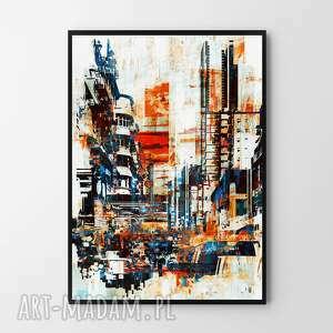 plakat obraz town abstrakcja 50x70 cm b2, abstrakcja, obraz, grafika