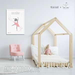 Autorski plakat w stylu skandynawskim Ballerina, plakat, pokój-dziecka
