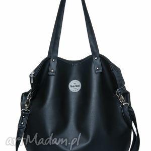 pracownia mana torba worek all black, czarna, duża, szkoła, praca, podróż