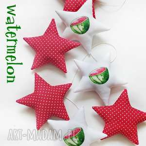 pokoik dziecka watermelon - girlanda, gwiazdka, arbuz, gwiazdki