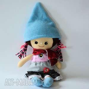 Zestaw: lalka Ola i ubranka, lalka, krasnal, zima, dziewczynka, pastelowa, zestaw