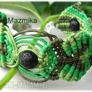 Gorzkie zioła - ,makrama,bransoletka,sznurek,lawa,