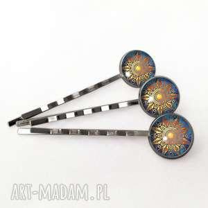 orientalne słońce - 3 wsuwki do włosów, orientalne, słońce, wsuwki, mandala, spinki