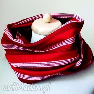 kominy red passion piękny wygodny komin z dzianiny, czerwony, czerwień, meksykańska