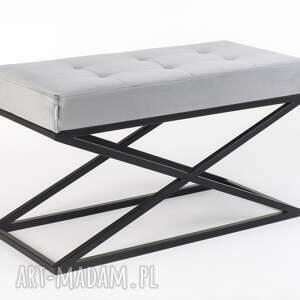 hand made ławka do przedpokoju, siedzisko, pufa industrialna, loft, metal