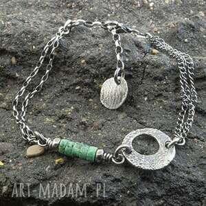 bransoletka ze srebra z turkusem afrykańskim, turkus