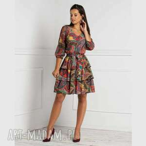 sukienki sukienka kim mini indira, mini, rozkloszowana