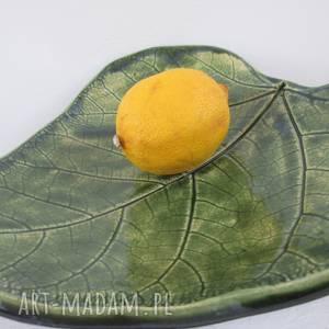miseczka zielony liść, naturalna-miseczka, roślinna-ceramika, organiczna-miska