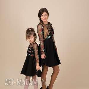 Komplet sukienek EMILY 2, haft, komplet, rozkloszowane, tiul, kwiaty, mamaicórka