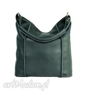 duża grafitowa torba ze skóry licowej, torba, torebka, prezent, szara, shopper, duża