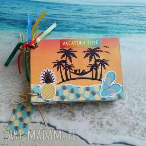 Dziennik/szkicownik/ podróżnika, wakacje, podróże, travel, notatnik, plaża, pamiętnik