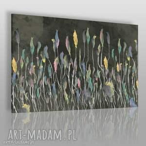 obrazy obraz na płótnie - łąka czarny kolorowy 120x80 cm 53103, łąka, tęcza, wiosna