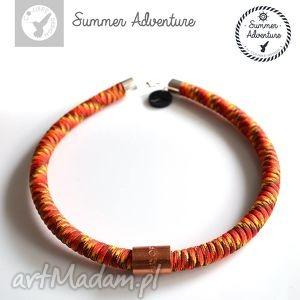 naszyjnik summer adventure - model red snake - nowoczesny, wężowy, designerski