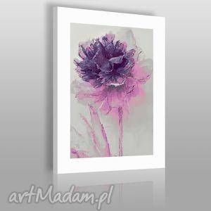 obrazy obraz na płótnie - kwiat fioletowy 50x70 cm 02004 , kwiat