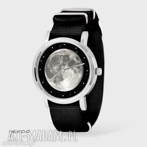 Prezent Zegarek, bransoletka - Księżyc czarny, nato, zegarek, bransoletka, nato
