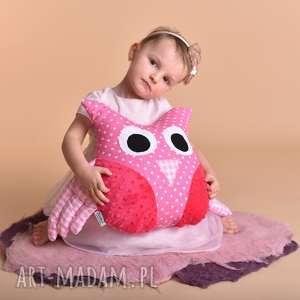 maskotki przytulanka dziecięca sowa ze skrzydłami, poduszka sowa