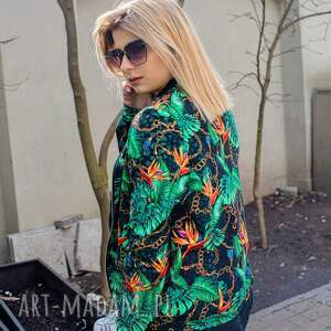 bluzy bomberka damska łańcuchy, damska, kurtka bomberka