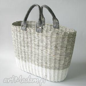 torba gray white, torba, koszyk, eko do ręki torebki