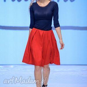 ręcznie wykonane spódnice spódnica czerwona midi rosso