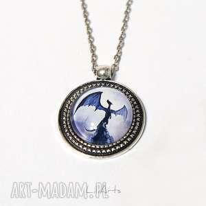 medalion, naszyjnik - smok cienia 2 cm, wisiorek, naszyjnik
