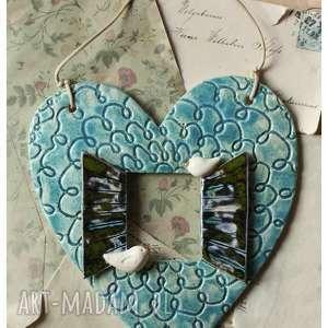 okiennica serce, ceramika, okiemmica, ptaszek