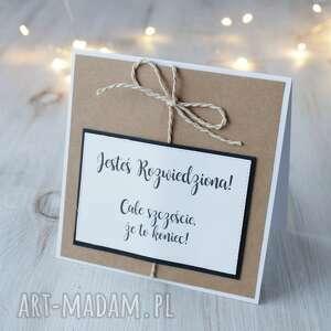 handmade scrapbooking kartki kartka z okazji rozwodu